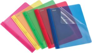 Oxford Clear Front Poly Report Covers with Fasteners