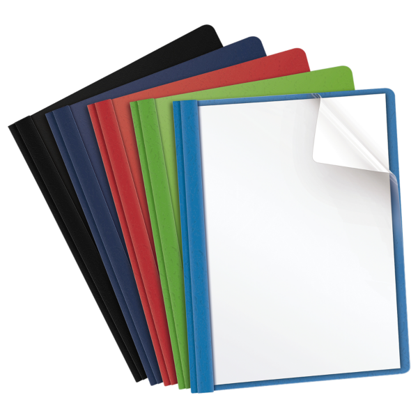 Oxford® Clear Front Report Covers with Fasteners Assorted - Clear Front
