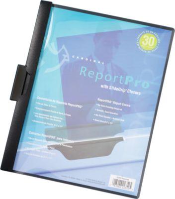 ReportPro Folders w/ Slide Grip Black - Slide Grip