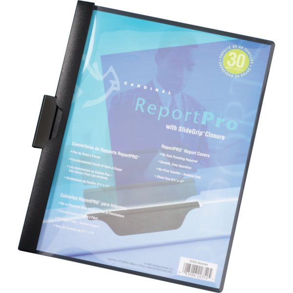 ReportPro Folders w/ Slide Grip Black - Slide Grip