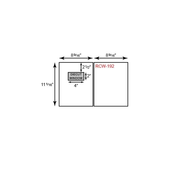 "Report Covers - Two Piece w/ Window (8 9/16"" x 11 1/16"")"