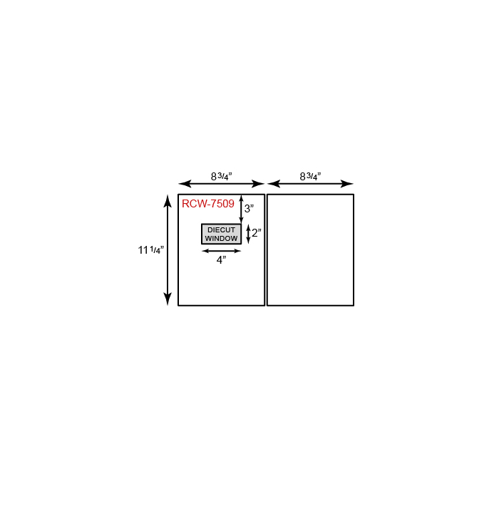 "Report Covers - Two Piece w/ Window (8 3/4"" x 11 1/4"")"