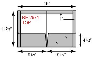 2 Pockets Reinforced Side and Top Edges