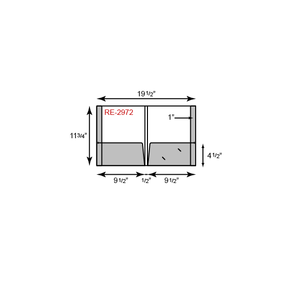 "9 1/2 x 11 3/4 Presentation Folders - Reinforced Edges w/ 1/2"" Spine"