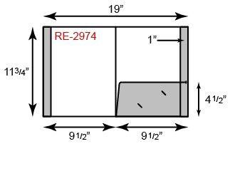 "9"" x 12"" Presentation Folders - Standard One Pocket (Right) w/ Reinforced Edges"