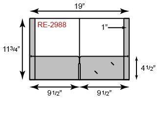 9 1/2 x 11 3/4 Presentation Folders - Continuous Pocket w/ Reinforced Edges