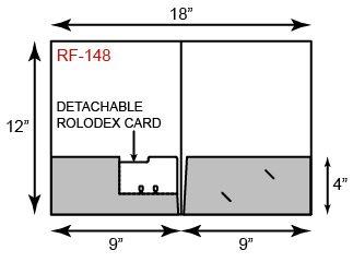"9"" x 12"" Presentation Folders - Two Pockets w/ Tear Our Rotary Card"