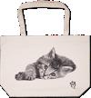 Rachael Hale® Canvas Tote Bag (20 x 14 x 5) Rachael Hale Cat