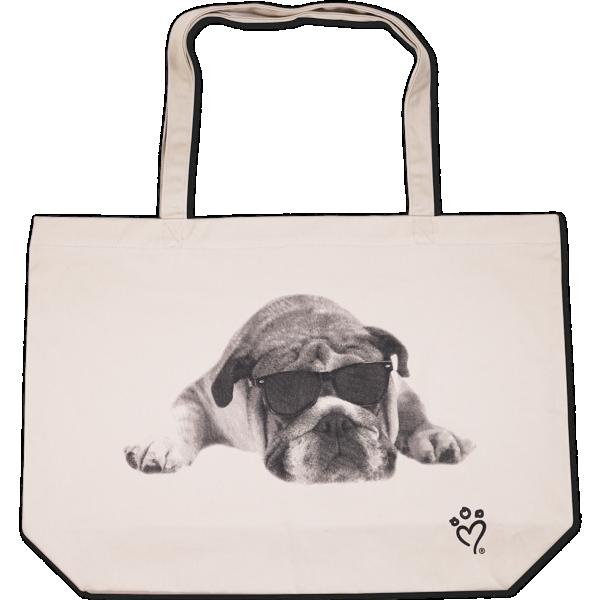 Rachael Hale® Canvas Tote Bag (20 x 14 x 5) Rachael Hale Dog