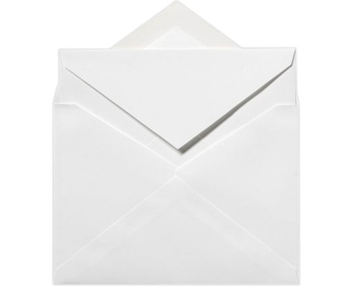 Royal Inner Envelopes (No Glue) (7 1/4 x 7 1/4) Brilliant White - 100% Cotton