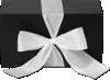 Medium Ribbon Tie Box (9 x 2 3/4 x 6 1/4) Sophisticate Black