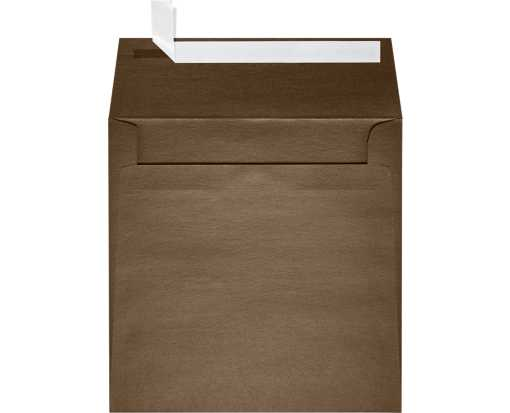 6 1/2 x 6 1/2 Square Envelopes Bronze Metallic