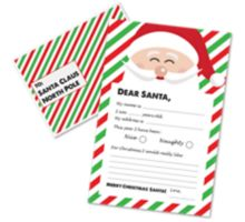 Letter to Santa Kit (9 1/2 x 6 1/4) - Red/Green
