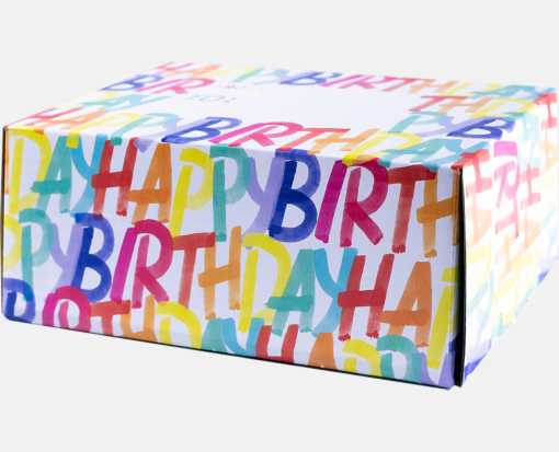Small Mailing Box Rainbow Birthday
