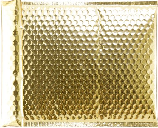 Glamour Bubble Mailers - 8 1/2 x 11 1/4  Gold Glamour Bubble