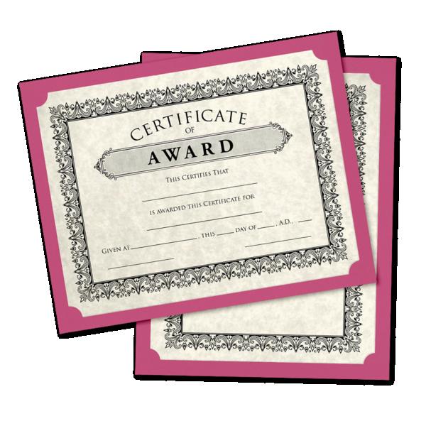 9 1/2 x 12 Single Certificate Holders Magenta
