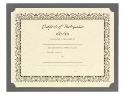 9 1/2 x 12 Single Certificate Holders Smoke