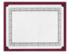 9 1/2 x 12 Single Certificate Holders Burgundy Linen