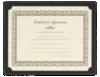 9 1/2 x 12 Single Certificate Holders Black Linen