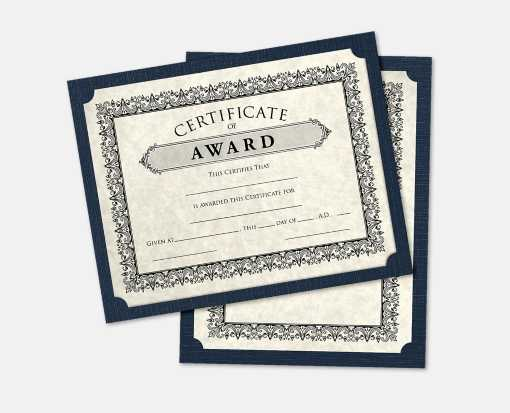 9 1/2 x 12 Single Certificate Holders Nautical Blue Linen
