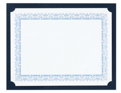 9 1/2 x 12 Single Certificate Holders Nautical Blue Linen