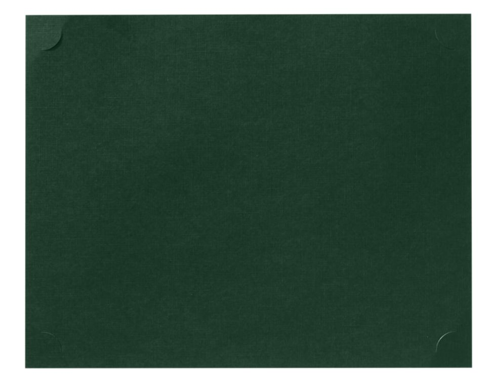 9 1/2 x 12 Single Certificate Holders Green Linen