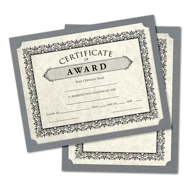 Sterling Gray Linen | Perfect for Holding Certificates Awards Documents and More! SCH-GRLI-25 Recognition 25 Qty 9 1//2 x 12 Single Certificate Holders