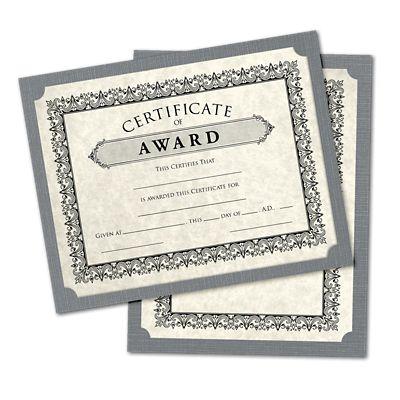 9 1/2 x 12 Single Certificate Holders Sterling Gray Linen