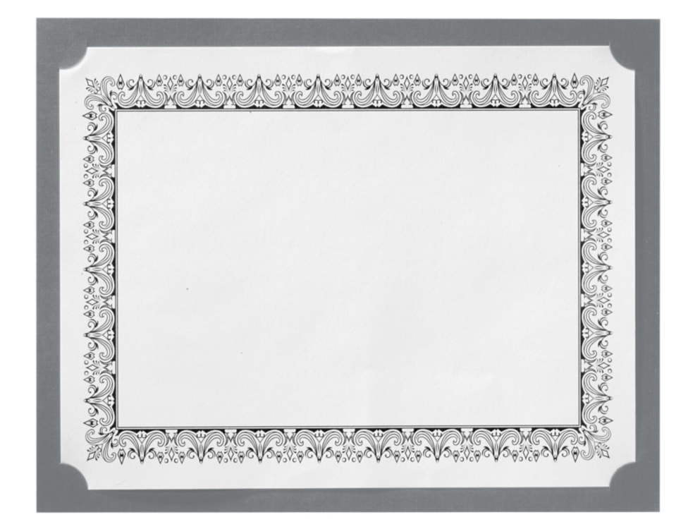 9 1/2 x 12 Single Certificate Holders Sterling Gray Linen
