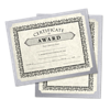 9 1/2 x 12 Single Certificate Holders Silver Metallic