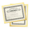 9 1/2 x 12 Single Certificate Holders Gold Metallic