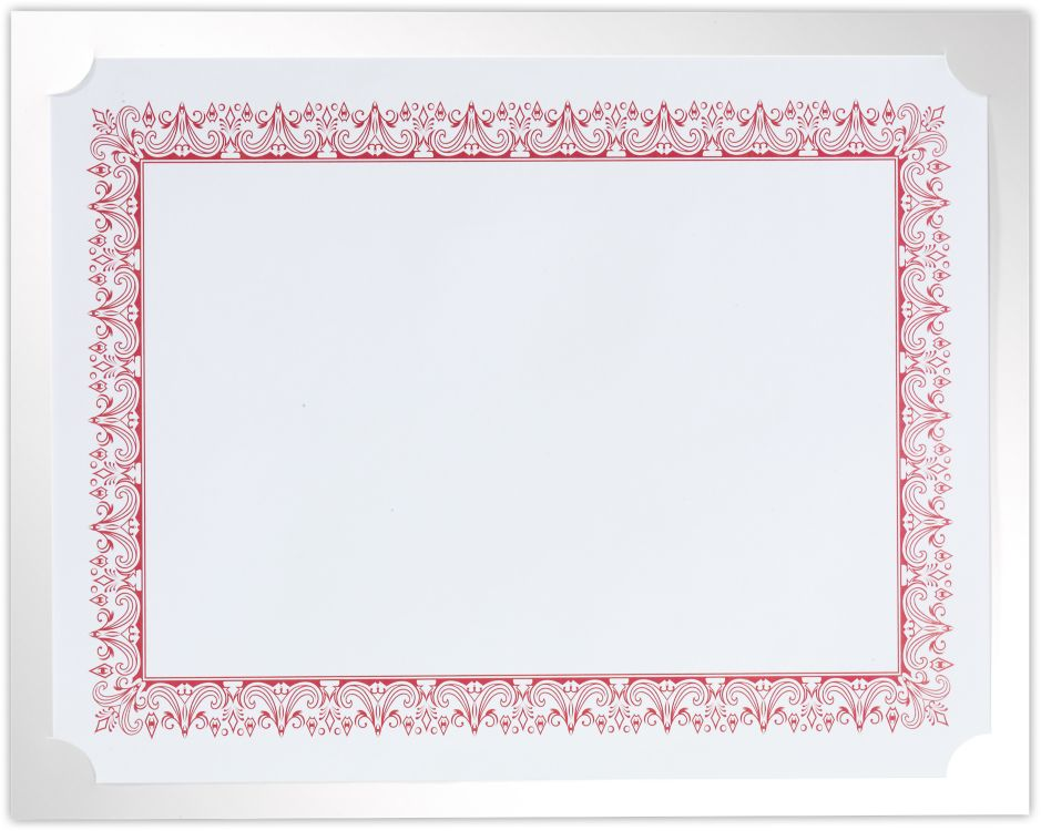 9 1/2 x 12 Single Certificate Holders Bright White Gloss