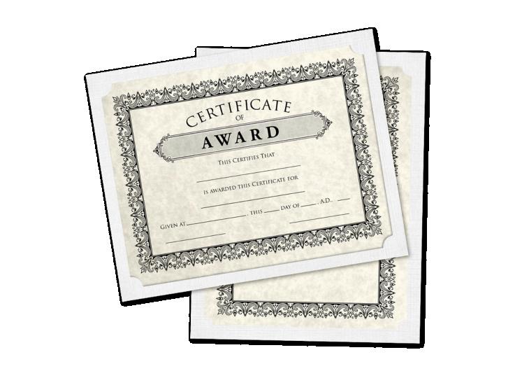 9 1/2 x 12 Single Certificate Holders White Linen