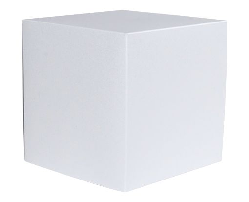 Small Cube Gift Boxes (2 5/32 x 2 1/8 x 2 5/32) Silver Metallic
