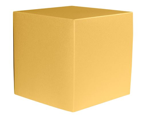 Small Cube Gift Boxes (2 5/32 x 2 1/8 x 2 5/32) Gold Metallic