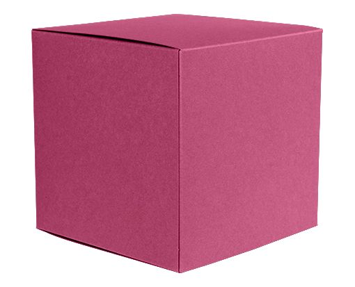 Small Cube Gift Boxes (2 5/32 x 2 1/8 x 2 5/32) Magenta