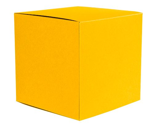 Small Cube Gift Boxes (2 5/32 x 2 1/8 x 2 5/32) Sunflower