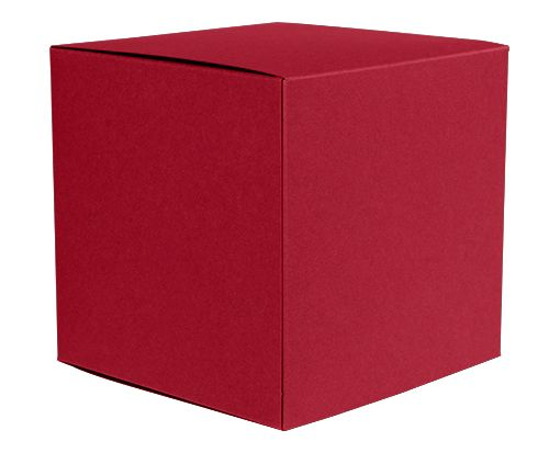Small Cube Gift Boxes (2 5/32 x 2 1/8 x 2 5/32) Garnet