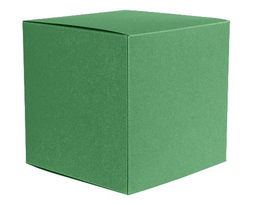 Small Cube Gift Boxes (2 5/32 x 2 1/8 x 2 5/32) Holiday Green
