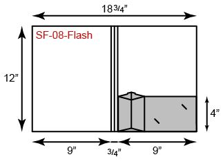 "9"" x 12"" Presentation Folders - One Pocket (Right) w/ Flash Drive Holder"