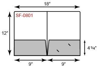 9 x 12 Presentation Folders - Round Corners