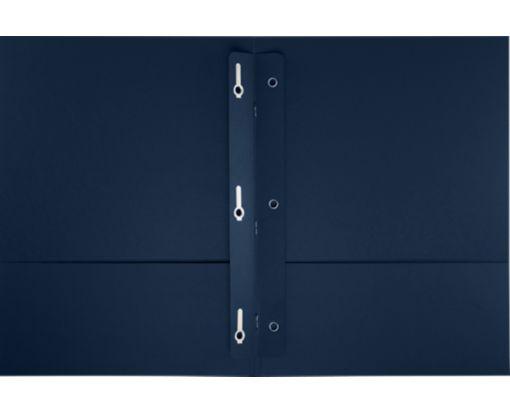 9 x 12 Presentation Folders w/ Brads Nautical Blue Linen