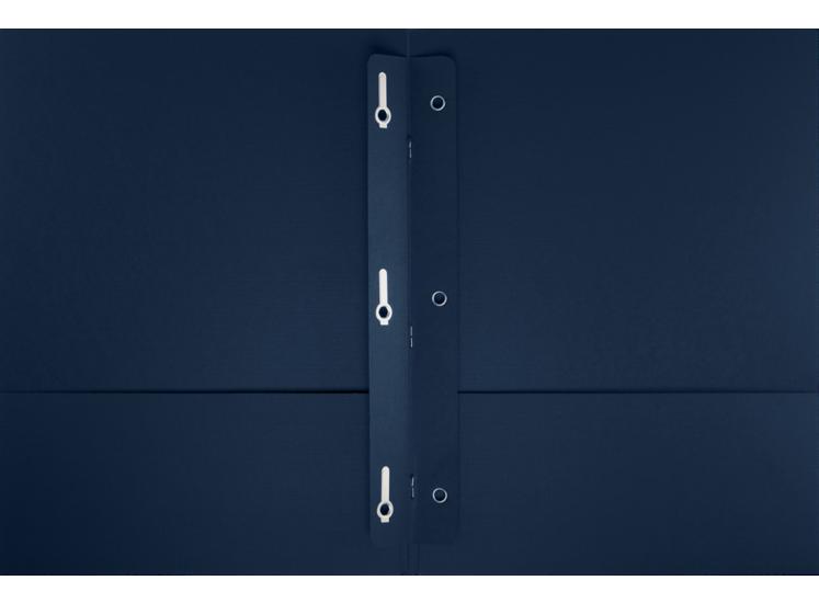 9 x 12 Presentation Folders w/ Brads Dark Blue Linen