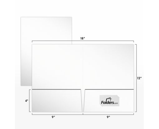 9 x 12 Presentation Folders - Standard Two Pocket White Smooth