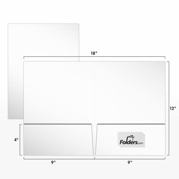 9 x 12 Presentation Folders - Standard Two Pocket White Smooth