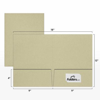 9 x 12 Presentation Folders - Standard Two Pocket Thyme Fiber