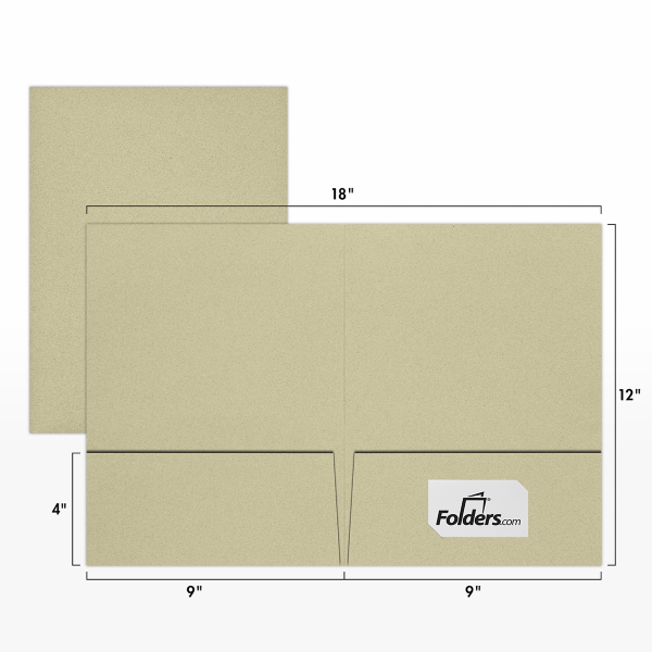 9 x 12 Presentation Folders - Standard Two Pocket Thyme Fiber