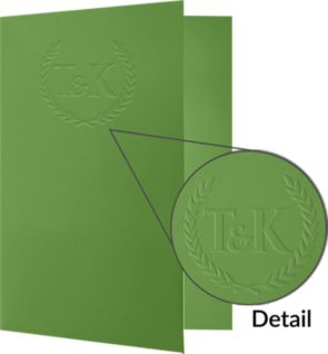"9 x 12 Presentation Folders with a Standard Two Pocket design are perfect for holding standard letter size 8 1/2"" x 11"" paper, documents, print media, brochures, stepped inserts and other professional uses. The two interior pockets measure 4"" in height and the right pocket features card slits to securely hold and display standard size business cards (3 1/2"" x 2""). Both pockets are also die-cut in a v-split style to prevent buckling when opening and closing the covers. The square corners of this standard size presentation folder were expertly die-cut for a clean, professional look. Available in a variety of colors, textures and cover stocks with many printing options."