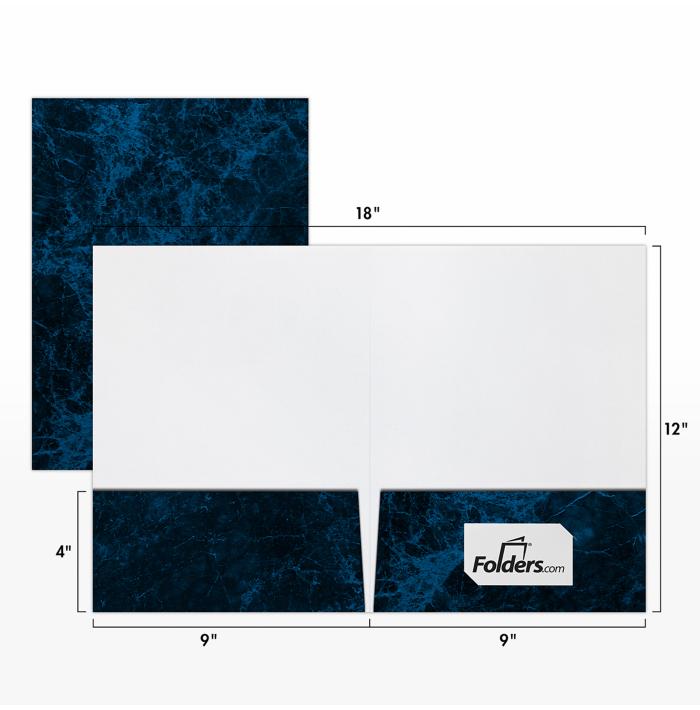 Blank 9 X 12 Presentation Folders Standard Two Pocket