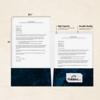 9 x 12 Presentation Folders - Standard Two Pocket Dark Blue Marble
